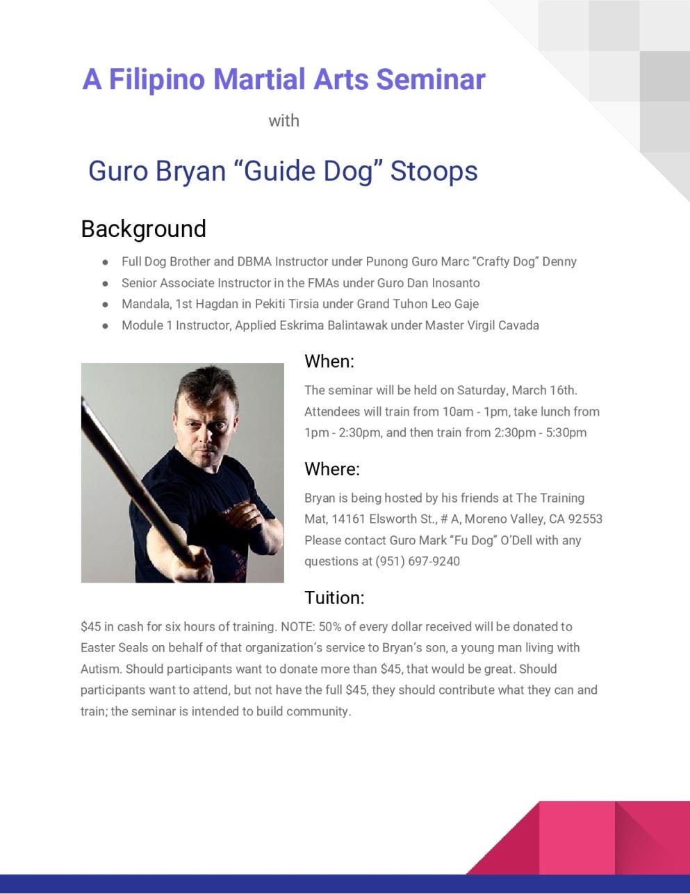 2019 Guide Dog Training Mat Flier (revised)